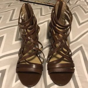 Fun strappy wedges